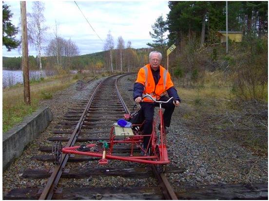 Gert Andersson inspekterar Valdresbanen i Norge